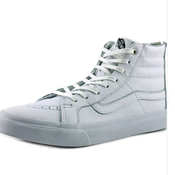 bc07bb7f18 Vans Sk8-Hi Slim Zip Hologram Sneakers Women 9.5M